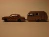 Matchbos Lesney Ford Cortina MK II und Bluebird Dauphin Caravan