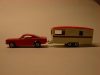Matchbox Lesney Ford Mustang und Trailer Caravan